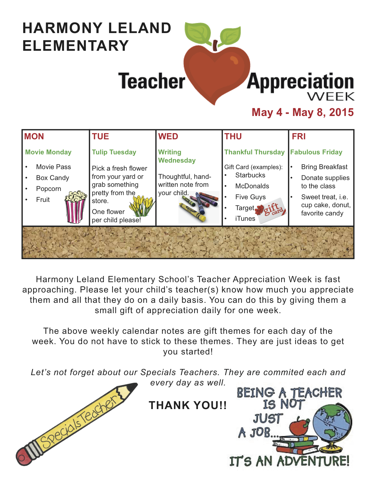 It's just a graphic of Revered Teacher Appreciation Template