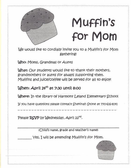 Muffins for Mom White